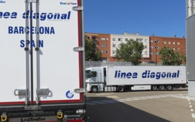 linea diagonal  rises again with 15 new frigos and crosses the 100 company owned trailers.